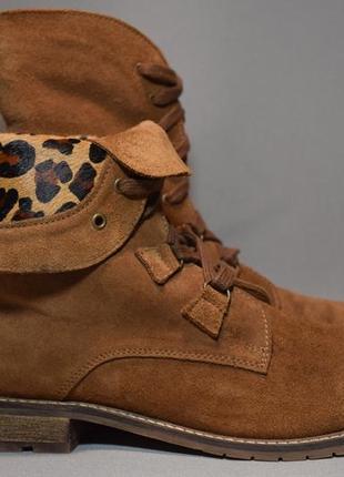 Ботинки oxmox женские кожаные. оригинал. 40-41 р./ 26.5 см.