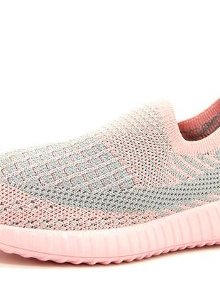Кроссовки для девочки серо-розовый размеры: 31-36