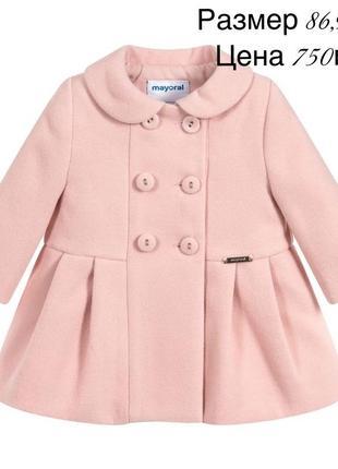 Цена закупки.шикарное пальто деми для малышки.mayoral