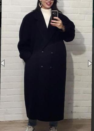 Кашемировое длинное пальто оверсайз  cirstein  раз.48-50