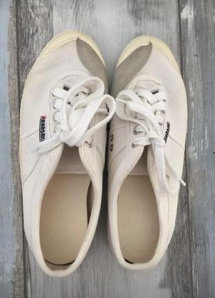 Кеды белые, текстиль, бренд кавасаки, kawasaki, р. 38