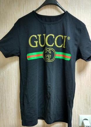 Новая футболка с принтом gucci