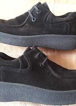 Фирменные натуральная замша спортивные туфли ecco