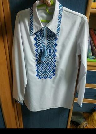 Рубашка вышиванка подростковая на мальчика