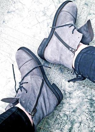 Топовые/замшевые деми ботинки/боты мартенсы grey fabio monelli в стиле dr. martens.