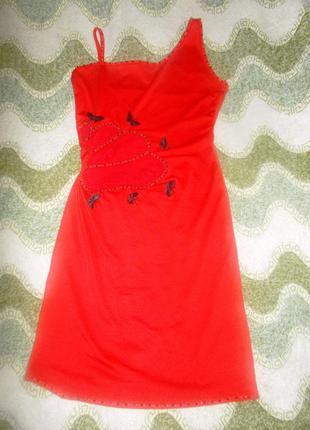 Платье коктельное нарядное вечерное кружевное1 фото