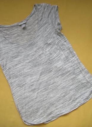 Мягенькая стильная меланжевая футболка h&m, р.с