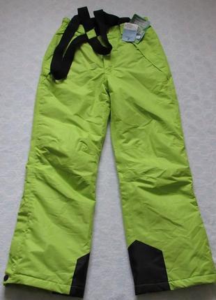 Лыжные брюки полукомбинезон на девочку 146/152 от crane kids новые
