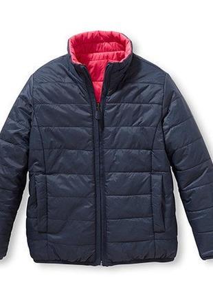 Мега крутая стеганая куртка-двухсторонка tchibo, германия - р. 110-116