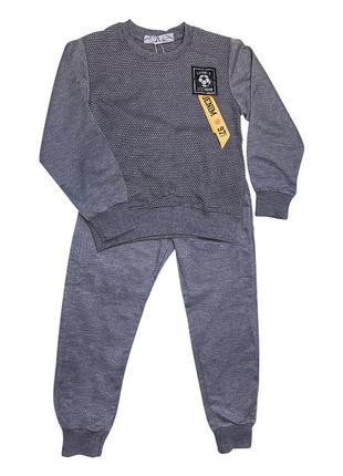 Костюм спортивный на мальчика (штаны и свитшот) серый