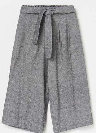 Брюки-кюлоты брюки укороченные серые