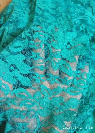 Очень красивое гипюровое платье цвета морской волны joanna hope7 фото