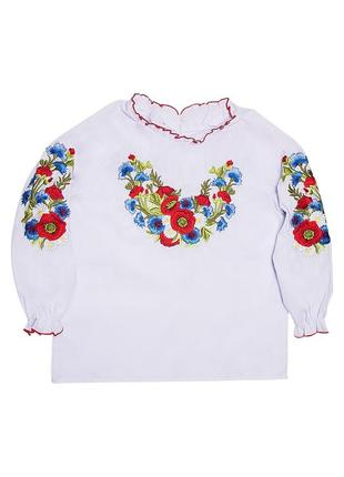 Вышиванка (вишиванка) на девочку, блузка школьная