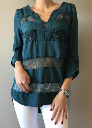 Рубашка с кружевом