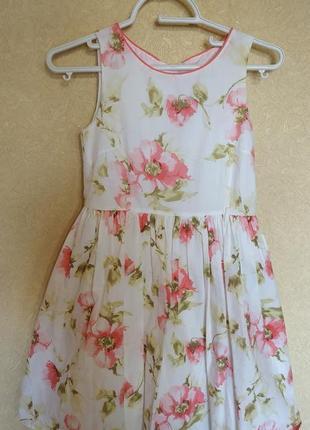 Летнее батистовое платье next,на 8-10 лет,рост 134-146