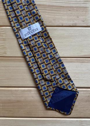 Шелковый галстук givenchy paris gentlemen