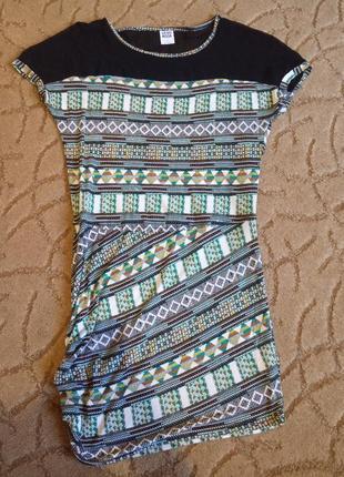 Платье с принтом под вышевку vero moda
