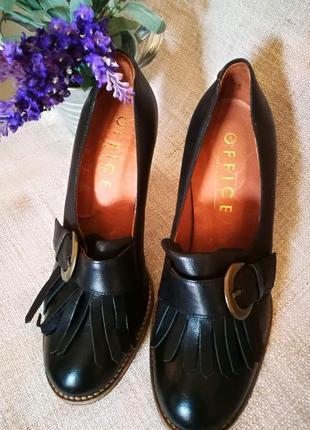 Португальские кожаные туфли office 38-393 фото