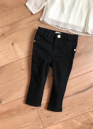 Джинсы river island 9-12 мес. черные джинсы узкачи