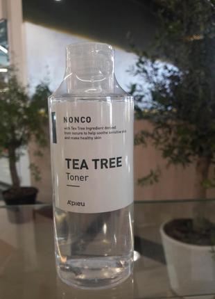 Тонер apieu nonco tea tree toner 210ml