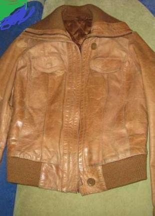 Куртка рыжая натуральная кожа