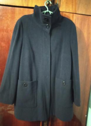 Пальто кашемірове, колір темно-фіолетовий