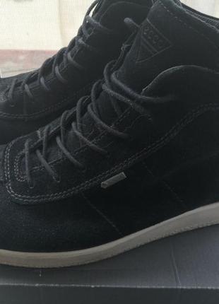 Мужские ботинки ecco (gortex, замш, эко)