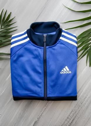 Adidas темно-синяя олимпийка на молнии