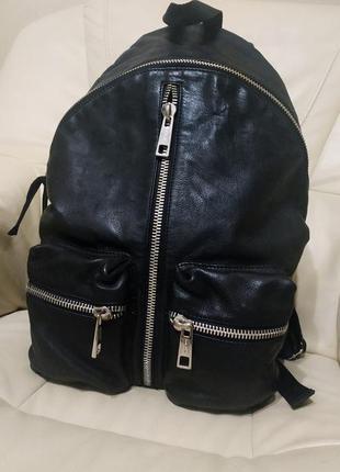 Шикарный мужской рюкзак replay.большой.кожа натуральная.оригинал