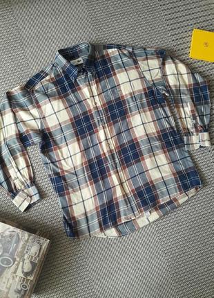 Хлопковая рубашка в клетку #lacoste #оригинал