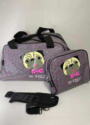 Дорожная сумка с косметичкой от бренда david&goliath
