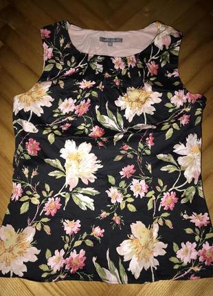 Laura ashley хлопковая блуза в цветочный принт! р.-38