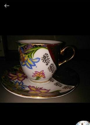 Чашка и блюдце фарфор