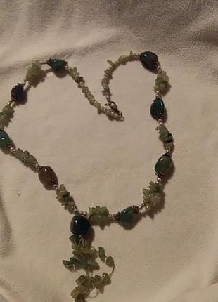 Ожерелье из нат.камня индия винтаж