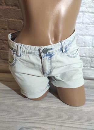 Фирменные джинсовые женские модные шорты на лето (модель 126)