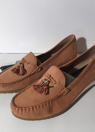 Кожаные мокасины слипоны туфли caprice германия