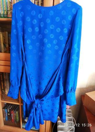 Очень стильное и красивое вискозное платье р.14 на пог 50-52 см,