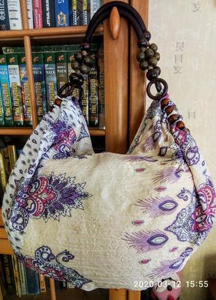 Красивая, стильная летняя, очень легкая сумка 300 гр.