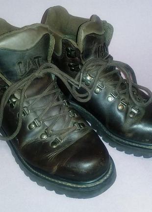 Стильные кожаные ботинки cat