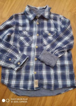 Рубашка на подкладке для мальчика 4-6 лет