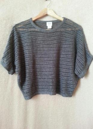 Укороченный свитер кроптоп накидка джемпер xs