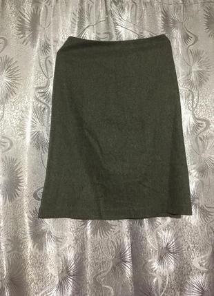 Серая тёплая шерстяная юбка от gap
