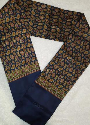 #розвантажуюсь винтажный 💯% шелковый шарф da vinci firenze
