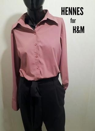 Коттоновая блуза рубашка с длинным рукавом