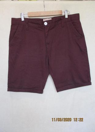 Стильные бордовые шорты/котоновые