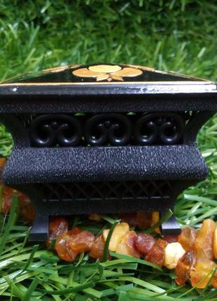 Шкатулка-ларец ссср сувенирная дарницкой фспи киев миниатюра инкрустация соломкой