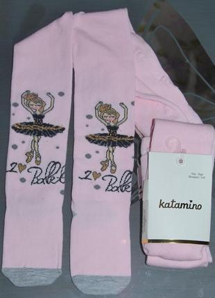 Демисезонные колготы 3-4, 5-6, 7-8 турция катамино балерина katamino