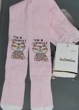Демисезонные колготы 5-6 турция катамино леопард katamino