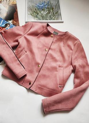 Куртка эко замш классика от primark