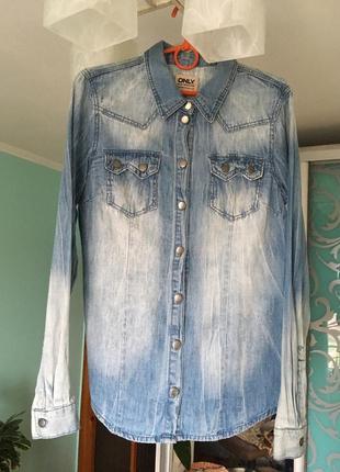 Джинсовая рубашка only сорочка джинсова